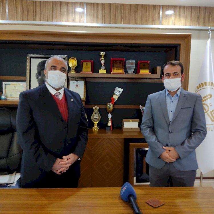 Enes Bin Malik Camisi İmam Hatipi Özdemir'den Müftü Çiftçi'ye Veda Ziyareti