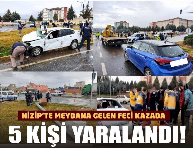 Nizip'te feci kaza: 5 yaralı