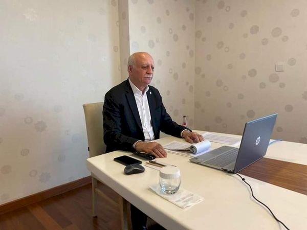 Fatih Altunses, video konferans toplantısına katıldı
