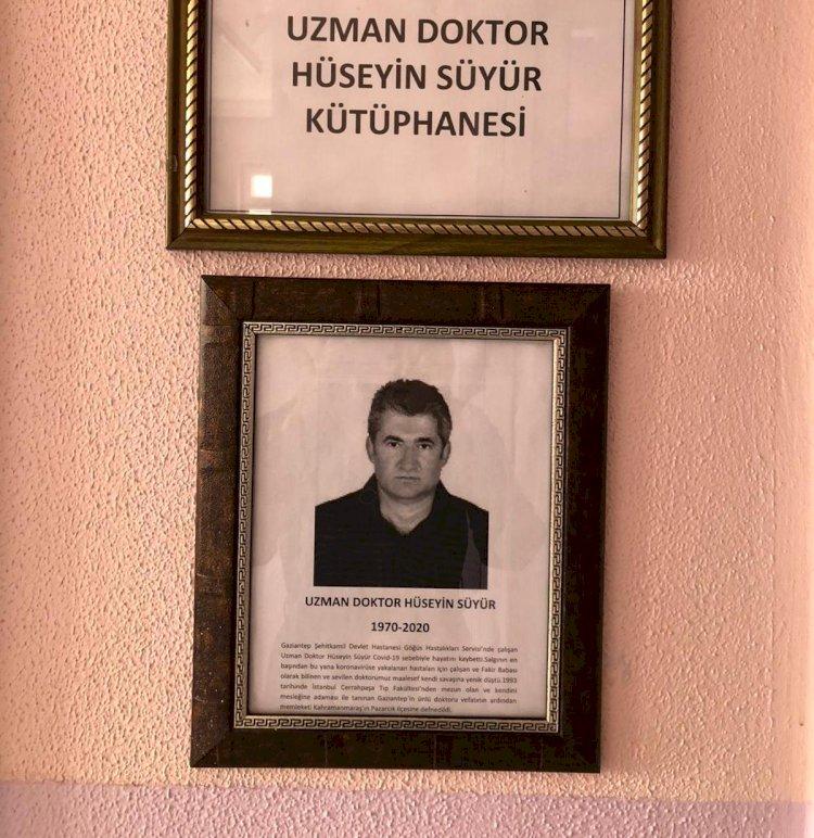 Dr. Hüseyin Süyür'ün ismi Nizip'te kütüphanede yaşayacak